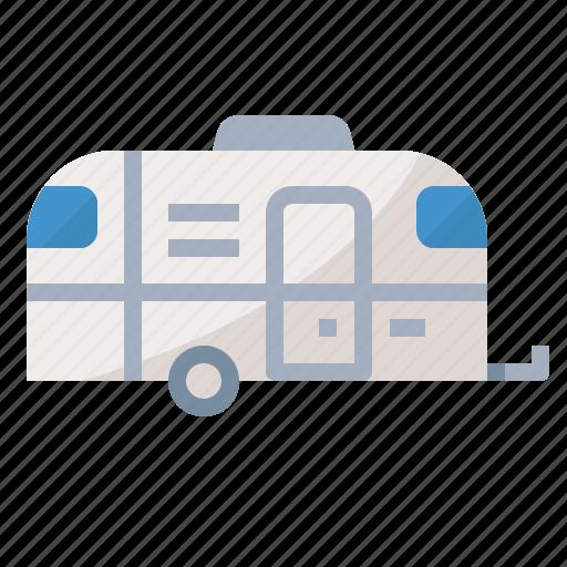 camper, caravan, trailer, travel icon