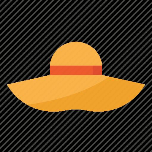 hat, summer, wear, women icon