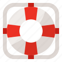 floating, lifeguard, lifesaver, safety icon