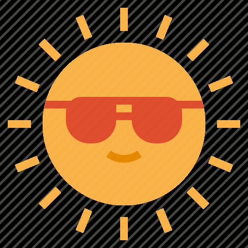 beach, hot, summer, sun icon