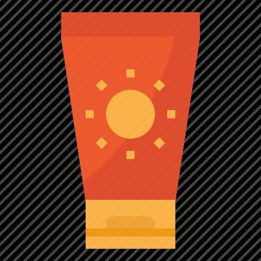cream, protect, sunbathe, sunscreen icon