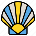 food, scallop, sea, seafood, shellfish icon