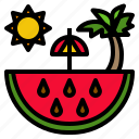 food, fruit, red, sweet, watermelon icon