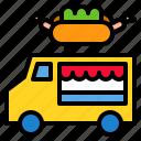 foodtruck, lunch, service, street, transport