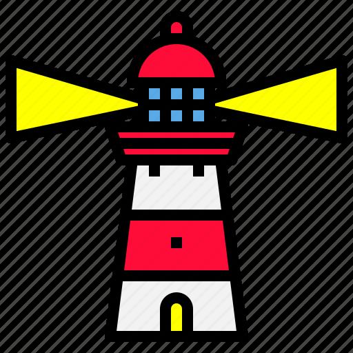 building, light, lighthouse, ocean, sea icon