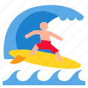 sport, surf, surfing, wind, windsurfing icon