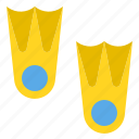 diving, fins, marine, sea, swimming icon