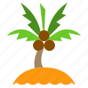 beach, island, paradise, sea, vacation icon
