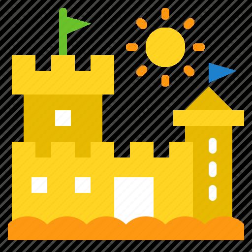 Beach, castle, sand, sandcastle, sea icon - Download on Iconfinder