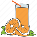 citrus juice, fresh juice, fruit juice, juice container, orange juice icon