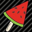 food, fruit, half of watermelon, juicy fruit, watermelon