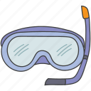 diving mask, face mask, scuba mask, snorkelling, underwater swimming icon