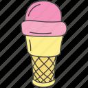 dessert, frozen food, ice cream, ice cream scoops, sweet