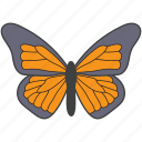 bird, butterfly, creature, moth, nature icon