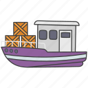boat, cruise, ship, travel, watercraft icon