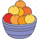 apple, food basket, fresh fruits, fruit basket, fruits, oranges, organic fruits icon