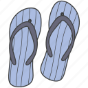 casual, flip flops, footwear, home slippers, slippers icon
