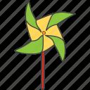 paper windmill, pinwheel, toy windmill, windmill icon