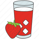 cold drink, drink, fizzy drink, juice, strawberry juice icon