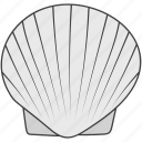 conch, mollusc, oyster, scallop, seafood, seashell icon