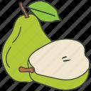 fruit, healthy diet, natural food, pear