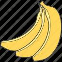 bananas, bunch of bananas, food, fruit, healthy diet