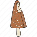 choco bar, ice cream, ice lolly, popsicle, summer dessert icon