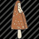 choco bar, ice cream, ice lolly, popsicle, summer dessert