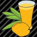 beverage, fruit juice, glass of juice, juice, mango drink