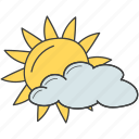 cloudy day, daytime, partially cloudy, sunrise, weather, weather forecast