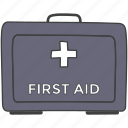doctor's briefcase, emergency medication, first aid box, medical box, medical kit icon