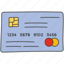 atm card, bank card, credit card, debit card, digital payment, smart card icon