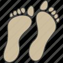 feet, female feet, footprints, human feet, podiatry icon
