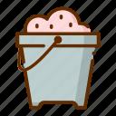 bucket, sand