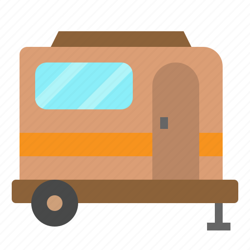 camping, caravan, travel, vehicle icon