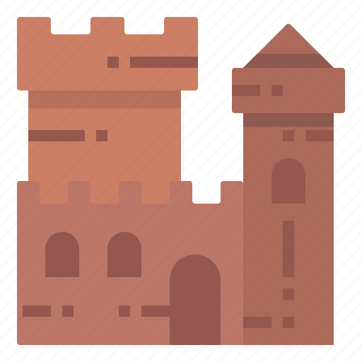 Beach, building, castle, sand, travel icon - Download on Iconfinder