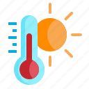 degree, hot, temperature, thermometer, weather icon