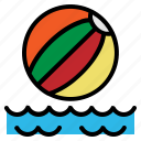 ball, beach, play, summer, toy icon
