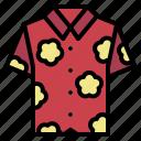 clothing, garment, hawaiian, shirt icon