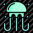 aquatic, fish, glow, jelly, sea icon