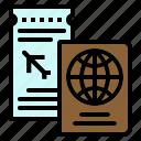 document, id, passport, ticket, travel icon