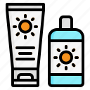 cream, lotion, protection, screen, sun icon