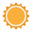 summer, sun, sunlight, weather icon