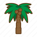 beach, palm, sea, summer, tree icon