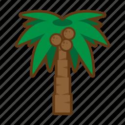 beach, palm, sea, summer, tree icon
