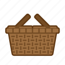basket, holiday, picnic, summer, vacation icon