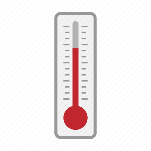 hot, summer, temperature, thermometer icon