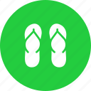 beach, casual, fashion, flipflops, footwear, holiday, vacation icon