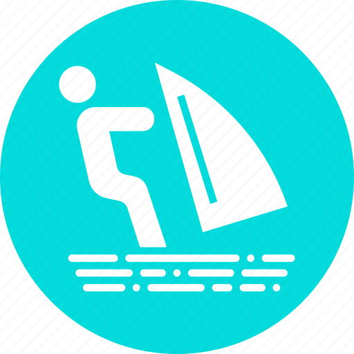 holiday, recreation, skiing, summer, surfing, vacation, water icon