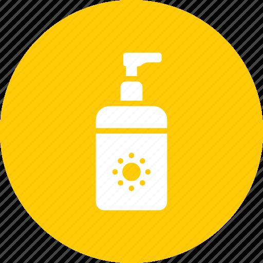 beauty, care, lotion, summer, sun, sunblock, sunscreen icon